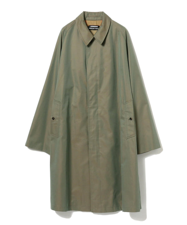 Exclusive Balmacaan Coat 24-19-0251-608: Khaki