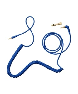 AIAIAI / C08 - Coiled w/adaptor - blue 4mm 1.5m.