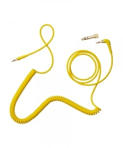 AIAIAI / C09 - Coiled w/adaptor - yellow 4mm 1.5m.