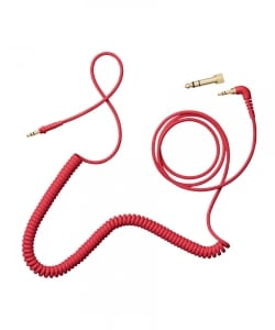 AIAIAI / C10 - Coiled w/adaptor - red 4mm 1.5m.