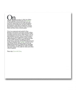 Sam Wilkes / Live On The Green Special Edition <Astrollage / Leaving Records>