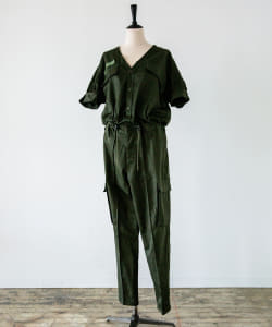 the khaki / No.18 UPCYCLE JUMP SUITS(BEAMS Planets)