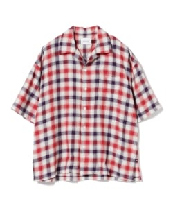 CAL O LINE / Plaid Open Collar Shirt