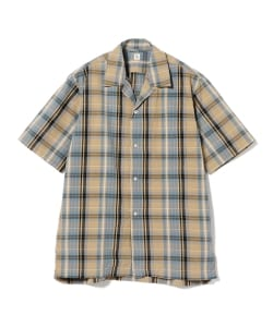 KAPTAIN SUNSHINE / Open Collar Short Sleeve Shirt