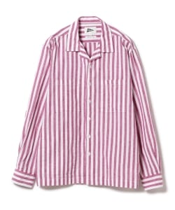 Pilgrim Surf+Supply / VINCENT LS Cotton And Linen Stripe Shirt