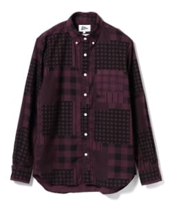 【タイムセール対象品】Pilgrim Surf+Supply / Fletcher Patchwork Print Shirt