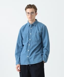 【予約】Pilgrim Surf+Supply / Payne Indigo denim Work Shirt