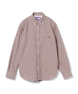 THE NORTH FACE PURPLE LABEL / Cotton Polyester OX Check BD Shirts