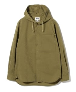 【予約】Pilgrim Surf+Supply / Boyce Seersucker Hooded Shirt