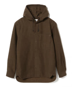 Pilgrim Surf+Supply / Boyce Herringbone Wool Hooded Shirt