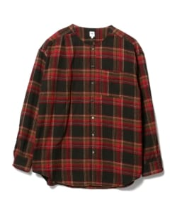 RANDT / Plaid No Collar Shirt