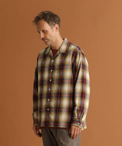 【予約】Pilgrim Surf+Supply / Vincent Ombre Plaid Shirt