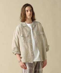 Pilgrim Surf+Supply / Patch Linen Camp Collar Shirt