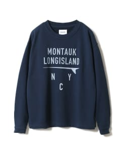 <MEN>CAL O LINE × Pilgrim Surf+Supply / 別注 Print Crew Neck