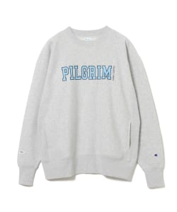 <MEN>Champion × Pilgrim Surf+Supply / Print Mock Sweatshirt