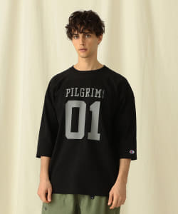 <MEN>Champion × Pilgrim Surf+Supply / Football Tee