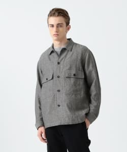 Pilgrim Surf+Supply / Chilton Wool Linen Herringbone Shirt Jacket