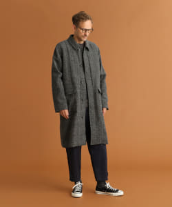 Pilgrim Surf+Supply / Cal Herringbone Balmacaan Coat