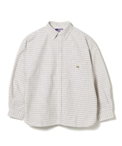 <WOMEN>THE NORTH FACE PURPLE LABEL / OX Check B.D. Shirt