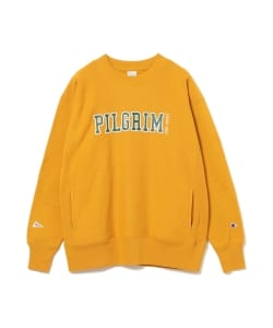 【予約】<WOMEN>Champion × Pilgrim Surf+Supply / Print Crew Sweatshirt