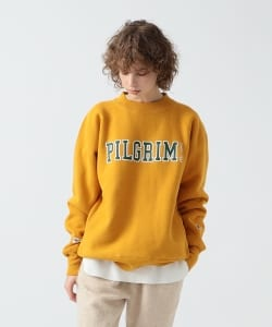 <WOMEN>Champion × Pilgrim Surf+Supply / Print Mock Sweatshirt