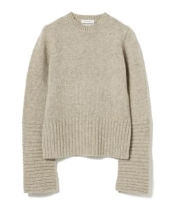 MADISONBLUE / Cuff Panel Crew Neck Pullover