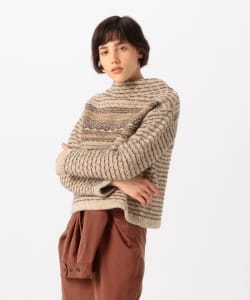 【予約】Pilgrim Surf+Supply / Clara Reverse Fair Isle Mockneck Sweater
