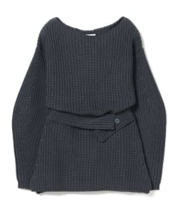 A PIECE APART / Belted Boatneck Knit