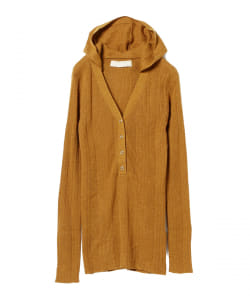 R JUBILEE / Rib Hooded Knit