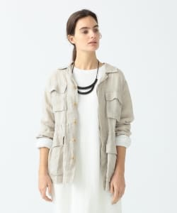 Pilgrim Surf+Supply / Olivia Relaxed Linen Army Jacket