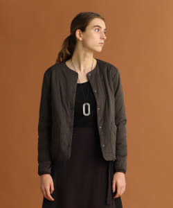 <WOMEN>snow peak × Pilgrim Surf+Supply / Flexible Insulated Crew Neck Cardigan