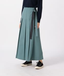 Pilgrim Surf+Supply / Yella Pleated Wool Wrap Skirt