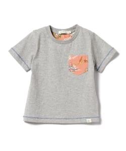 bffc5bd59f7cd BEAMS mini   トロピカル ポケットTシャツ(90~120㎝)