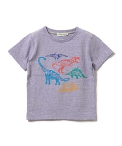 【予約】BEAMS mini / Dinosaur Tシャツ (90~150㎝)