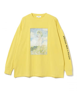 "【WEB限定】BeAMS DOT / ART PRINT LONG TEE ""MONET  Woman with a Parasol"""