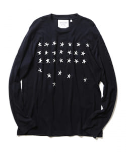BEAMS LIGHTS with MIC*ITAYA / Stars Long Sleeve Wool T-Shirt