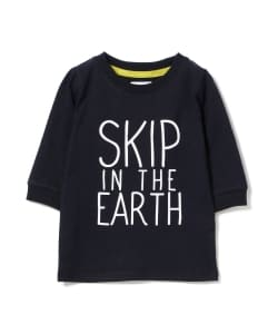 ARCH&LINE / SKIP IN THE EARTH ロゴプリント 7分袖 Tシャツ (85~135cm) ▲