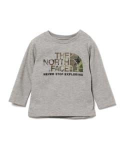 THE NORTH FACE / camo ロゴ ロングスリーブ Tシャツ 20(80~90㎝)