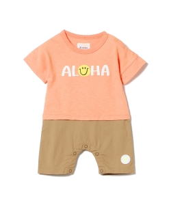 2d5be2ee795712 6°vocale × こどもビームス / 別注 ALOHA キリカエ ロンパース (70~80cm)