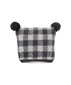 1+in the family / CHUS beanie ボンボン付き スクエア ウインター キャップ 18 (3ヶ月~1才)