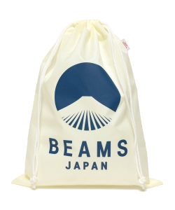 evergreen works × BEAMS JAPAN / オリジナル ナイロン 巾着 バッグ L