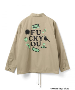 "星野源 / ""Fxxx  YOU""  Coach jacket"