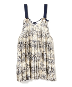 GHOSPELL / Pleating Snake Print Camisole