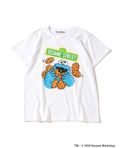 【予約】FUJI ROCK FESTIVAL'19 × Ray BEAMS / SESAME STREET クッキーモンスター Tシャツ