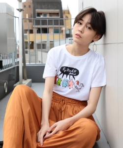 <WOMEN>FUJI ROCK FESTIVAL'19 × Ray BEAMS / Jean Jullien プリント Tシャツ