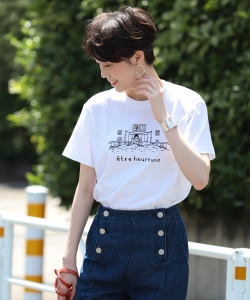 NAIJEL GRAPH × Ray BEAMS / 別注 GIRL in Bed Tシャツ