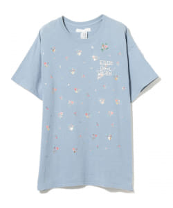 BEAMS COUTURE / ハンドプリント 花柄Tシャツ PINK