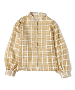 GHOSPELL / Sheer Check Blouse