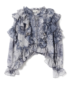 GHOSPELL / Wavey Tie Dye Ruffle Top