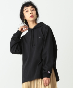 Champion × Ray BEAMS / 別注 Hooded Long Sleeve Tシャツ◇